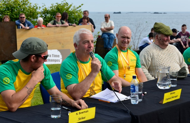 Pressekonferenz beim Ardbeg Distillery Swamp Football Tournament 2014